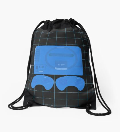 Megadrive Neon single (black) Drawstring Bag