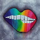 Rainbow Lips by Laura Barbosa