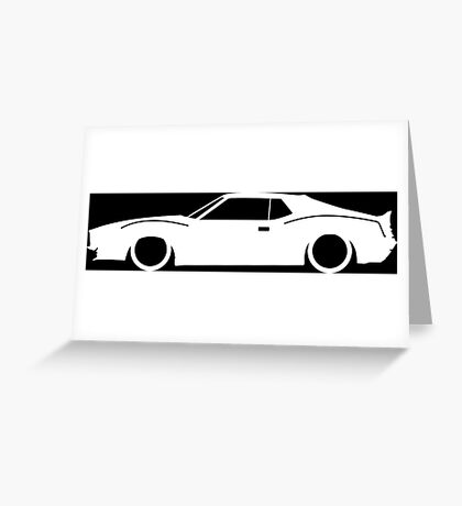 Lowered car for AMC Javelin 1971-1974 Enthusiasts Greeting Card