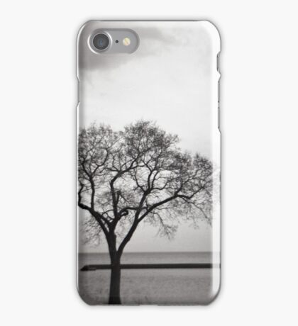 Lonely Tree by the Lake iPhone Case/Skin