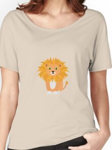 Lion with green eyes Women's Relaxed Fit T-Shirt
