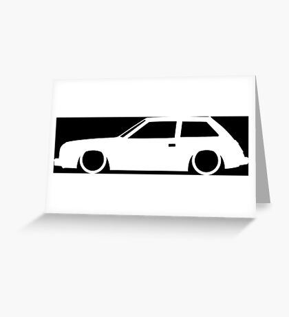 Lowered car for AMC Spirit 2-door Enthusiasts Greeting Card
