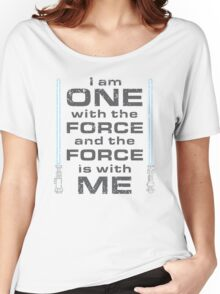 Force is with Me - Blue Women's Relaxed Fit T-Shirt