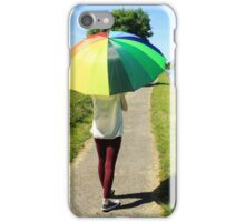 Rainbow Umbrella iPhone Case/Skin