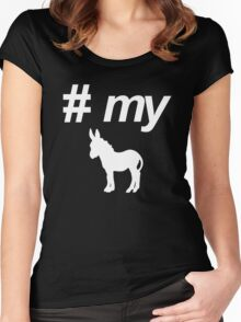Pound My Donkey Women's Fitted Scoop T-Shirt