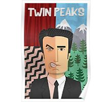 Twin Peaks, Dale Cooper Cartoon Poster