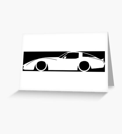Lowered car for Chevrolet Corvette coupe C3 (late spec) enthusiasts Greeting Card