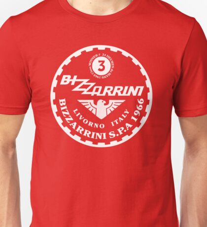 Bizzarrini 1965  24hrs du MANS Class WINNER WHT Unisex T-Shirt