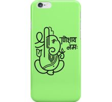 Ganesh Ganesa Ganapati 5 (black outline) iPhone Case/Skin