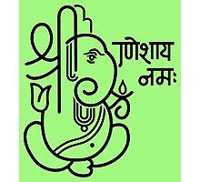 Ganesh Ganesa Ganapati 5 (black outline) Photographic Print