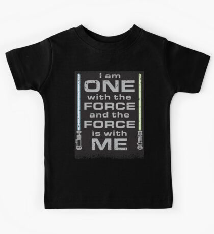 Force is with Me - Black&Both Kids Tee