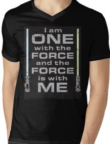 Force is with Me - Black&Both Mens V-Neck T-Shirt