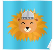 Viking lion head Poster