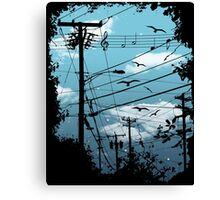 Electric Music City Canvas Print