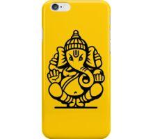 Ganesh Ganesa Ganapati 4 (black outline) iPhone Case/Skin