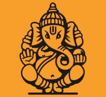 Ganesh Ganesa Ganapati 4 (black outline) by MysticIsland