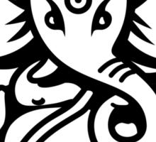 Ganesh Ganesa Ganapati 4 (black outline) Sticker
