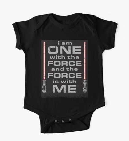 Force is with Me - Black&Red One Piece - Short Sleeve
