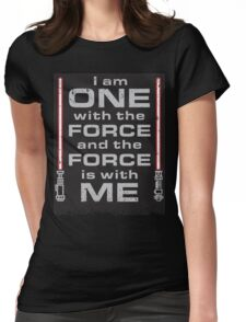 Force is with Me - Black&Red Womens Fitted T-Shirt
