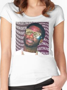 Gucci Mane- Fresh.Out.Tha.Feds Women's Fitted Scoop T-Shirt