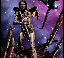 Cyberpunk Painting 039 by Ian Sokoliwski