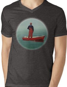 Lil Boat Mens V-Neck T-Shirt