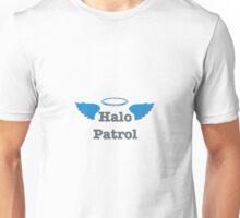 Halo Patrol  gray on blue Unisex T-Shirt