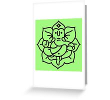 Ganesh Ganesa Ganapati 2 (black outline) Greeting Card