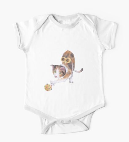 Playful Toy Cat One Piece - Short Sleeve