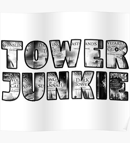 Tower Junkie Black and White Poster