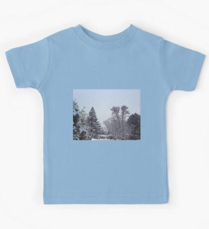 Winter Morning Snow Scene Kids Tee