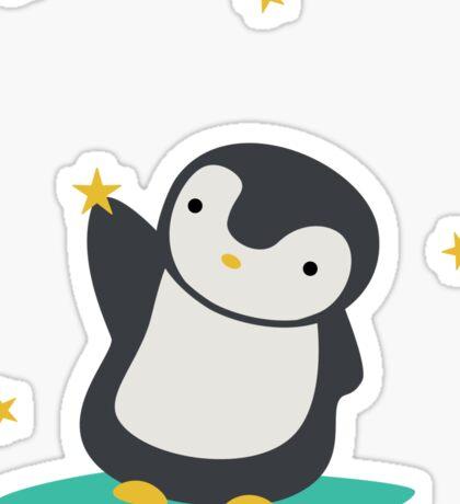 Cute Whimsical Penguin T-Shirt Sticker