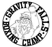 Gravity Falls Boxing Champ Photographic Print