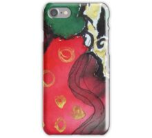 Wrap , red green gold iPhone Case/Skin