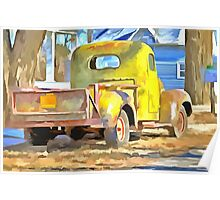 Vintage Work Truck  Poster