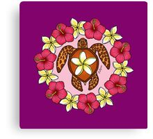 Honu flowers Canvas Print