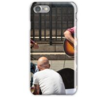 Busking, Brussels iPhone Case/Skin