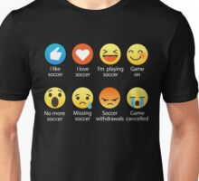 I Love Soccer Emoji Emoticon Graphic Tee Shirts Unisex T-Shirt
