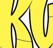 Akua Yellow and Black Sticker