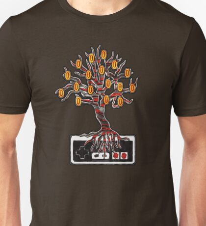 """Who Says Coins Don't Grow On Trees?"" NES controller design Unisex T-Shirt"