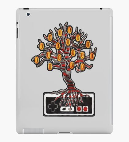 """""""Who Says Coins Don't Grow On Trees?"""" NES controller design iPad Case/Skin"""