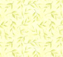 Abstract Golden Floral Pastel Pattern by sale
