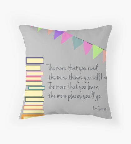 Read, Dr Seuss Throw Pillow