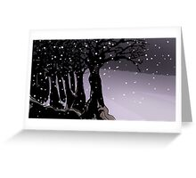 Dark trees and snow Greeting Card