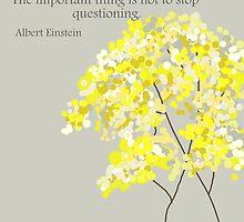 Questioning, Albert Einstein by VieiraGirl