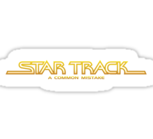 Star Track: A Common Mistake Sticker