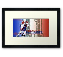 A very talented hockey player from Montreal Framed Print