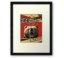 Respect the Bear Framed Print