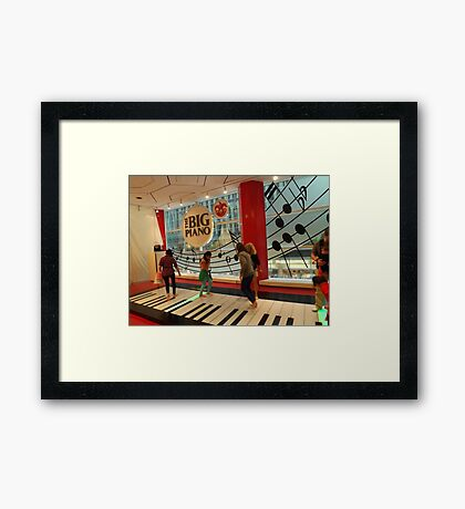 The Big Piano, FAO Schwarz Toy Store, New York City Framed Print