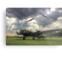 The Prince`s Break - The 3 Lancasters East Kirkby - HDR Metal Print